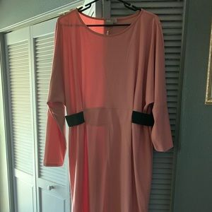 Classic pink and black dress